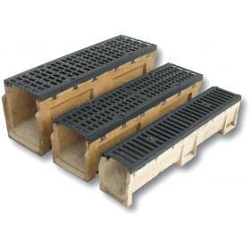 Rigola fonta ductila cu canal de beton polimeric cu grătar CAPOL 18/25/30 - CAPOL