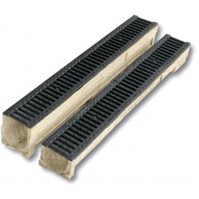 Rigola fonta ductila cu canal de beton polimeric cu grătar CAPOL 13/15 - CAPOL