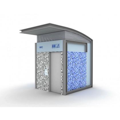 Toaleta publica cu atusoaplare automata - model 1